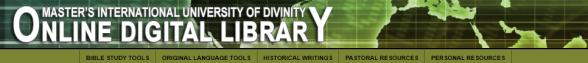 Master's International University of Divinity Online Digital Library