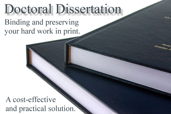 Doctoral Dissertation Binding for students of  Master's International University of Divinity